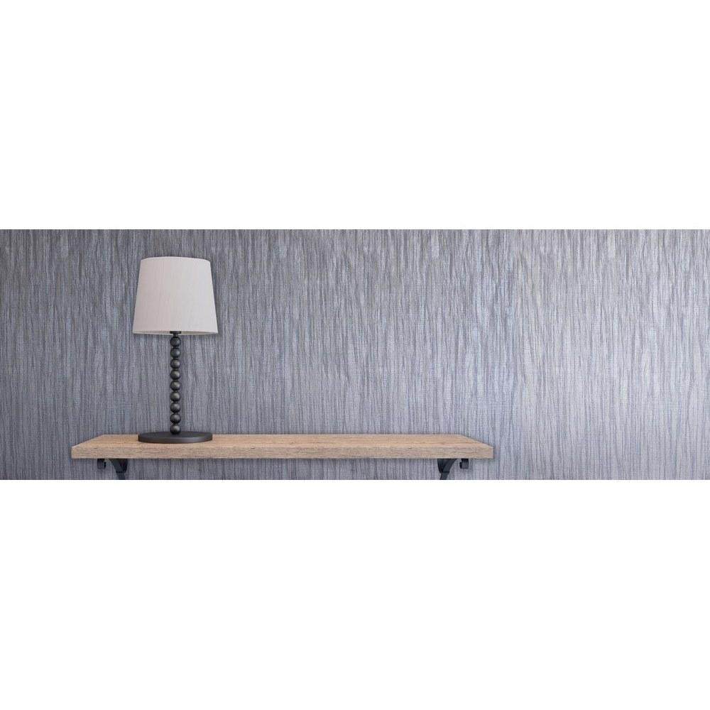 Italian Vinyl Glitter Linear Plain Grey Fine Decor Milano Wallpaper M95566