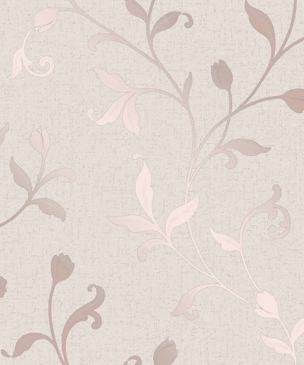 Fine Decor Quartz Trail Rose Gold Wallpaper