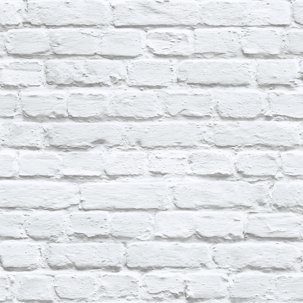 Details About Muriva Painted White Brick Wallpaper 102539 Feature Wall Photographic